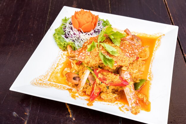 Fried curry crab