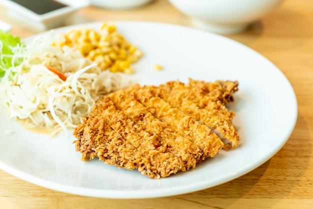 Fried cutlet pork (tonkatsu) set
