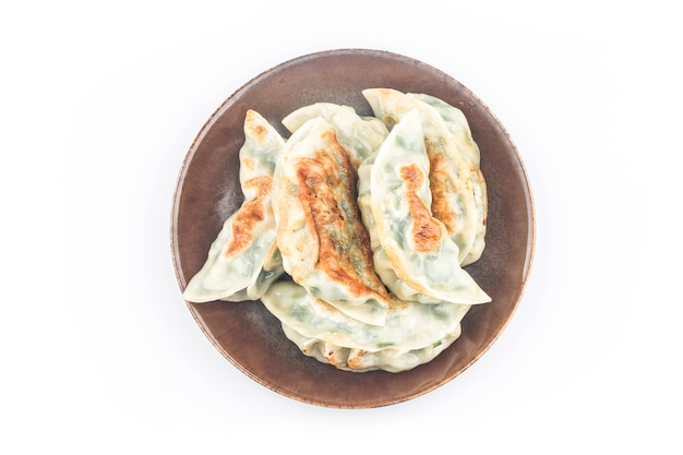 Fried dumpling isolated on white