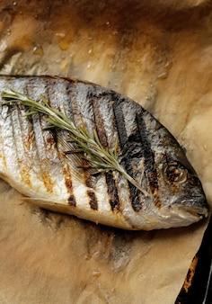 ローズマリーと揚げ魚