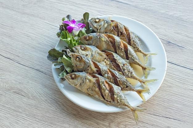 Fried mackerel fish with fish sauce