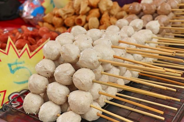 Fried meatballs at street food