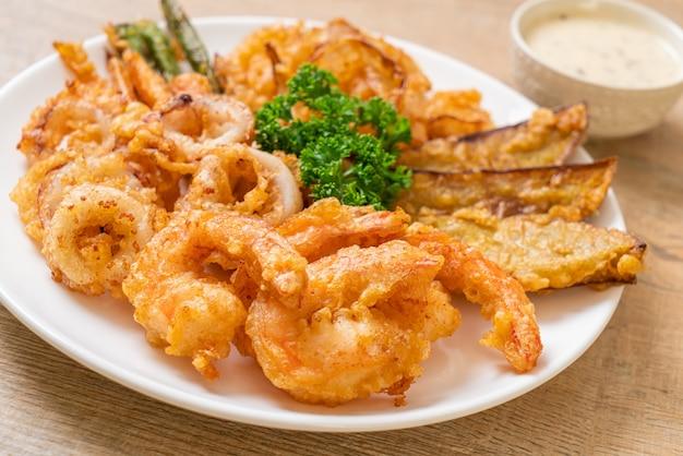 天ぷらとタレの炒め物