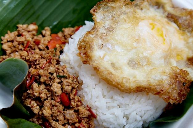 Жареная свинина с рисом