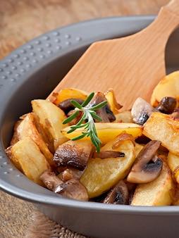 マッシュルームと玉ねぎのフライドポテト