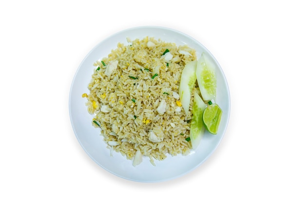 Fried rice, top view