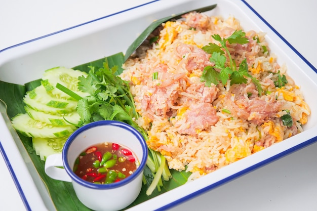 Fried rice with fermented pork ,kao pad nham