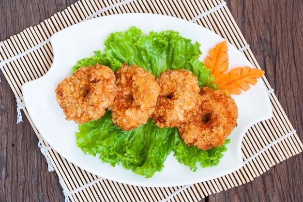 Fried shrimp cake, thai food
