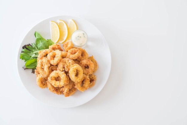 Fried squid (calamari rings) Free Photo