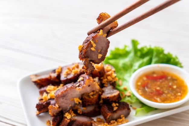 Fried streaky pork or crispy pork or deep fried pork belly