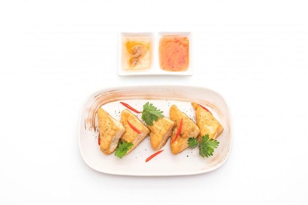 Fried tofu - vegan food
