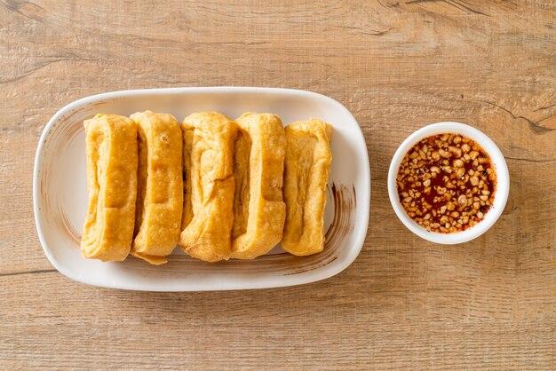 揚げ豆腐とタレ