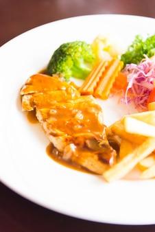 Fried turkey gourmet horizontal potato