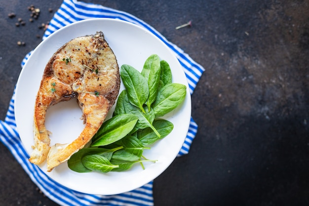 Fried white fish silver carp freshwater fish vegetarian food pescetarian diet