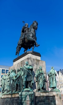Friedrich wilhelm iii monument in cologne