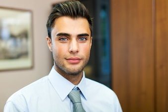 Friendly young businessman