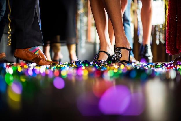Friends celebrating on the dance floor