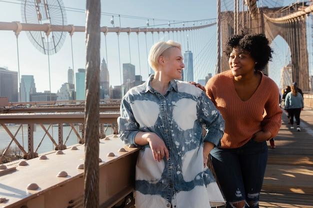Friends gathering in new york