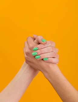 Friendship day hands composition