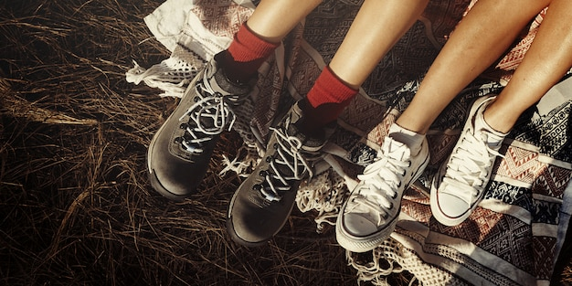 Friendship hiking journey trekking wanderlust concept