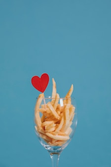 Fries for Valentines dinner