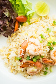 Fries rice with shrimp
