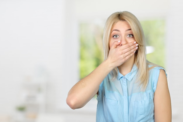 Frightened and shocked girl