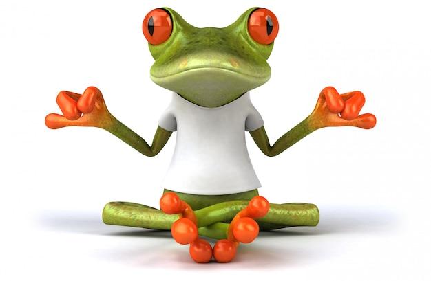 Лягушка с белой футболкой 3d иллюстрации