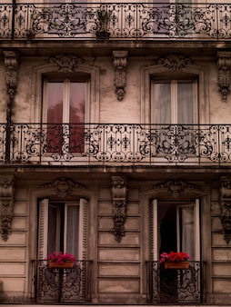 Front of building in paris france