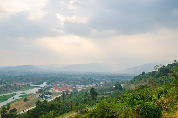 Front of khundanprakanchon dam, nakhonnayok, thailand