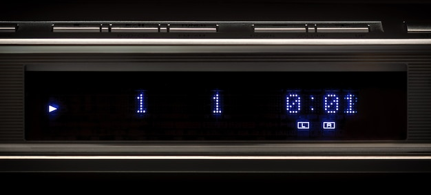 Front led panel of multimedia player