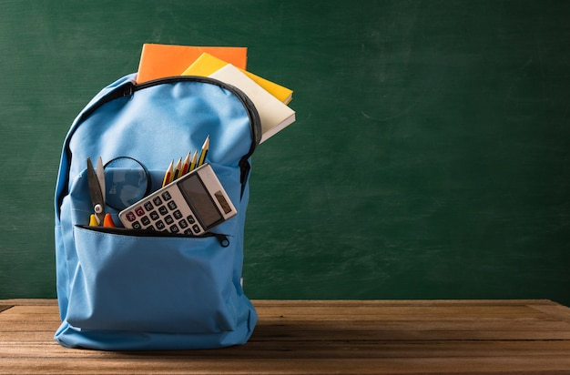 Front school bag backpack and stationery accessory