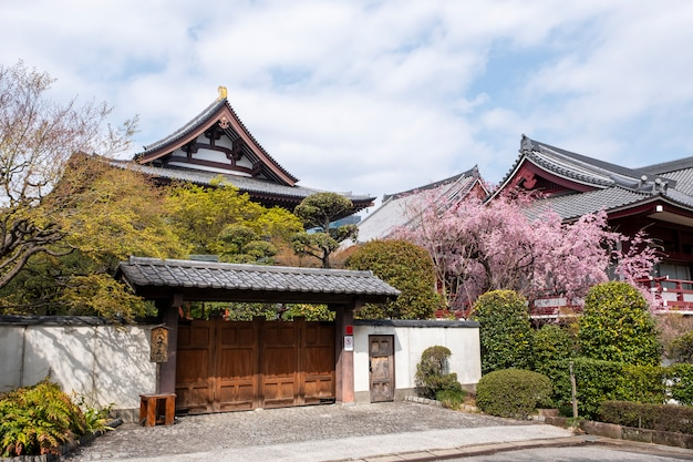 Front of temple in japanese style