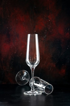 正面図シャンパンフルートのペア