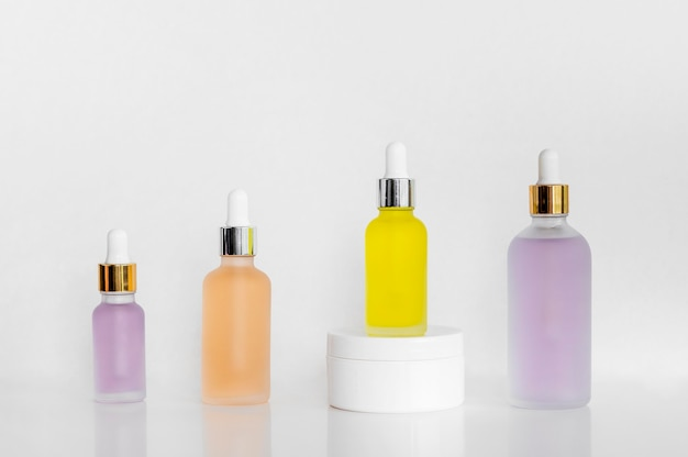 Front view arrangement of natural oils