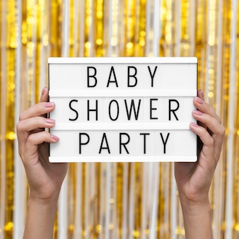 Front view baby shower party concept