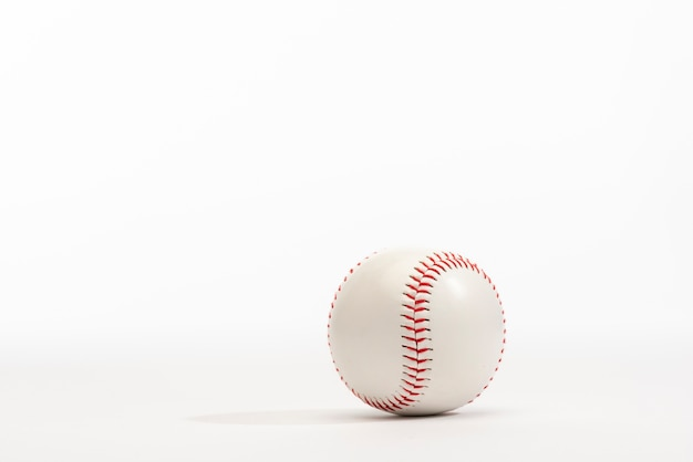 Front view of baseball with copy space