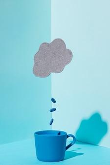 Vista frontale del concetto di lunedì blu