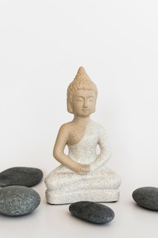 Front view of buddha statuette