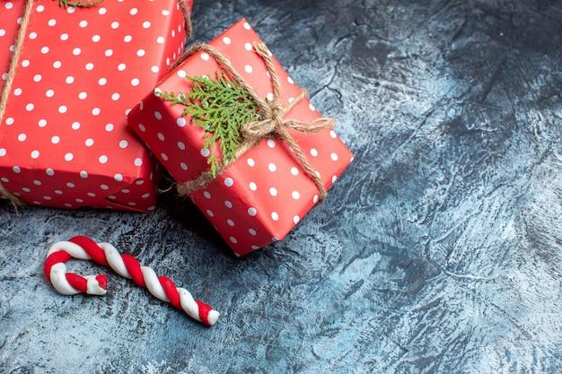 正面図クリスマスプレゼント光の表面 無料写真