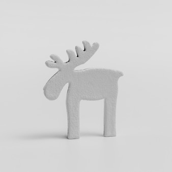 Front view of christmas reindeer ornament