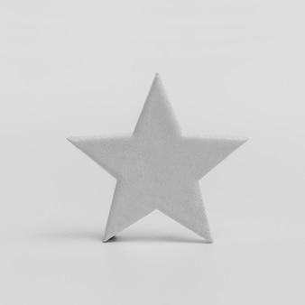 Vista frontale dell'ornamento della stella di natale