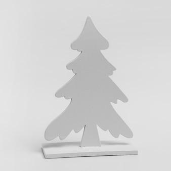 Front view of christmas tree ornament