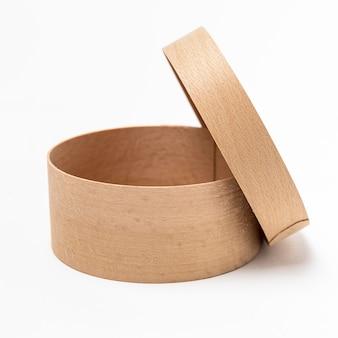 Composizione vista frontale della scatola di legno
