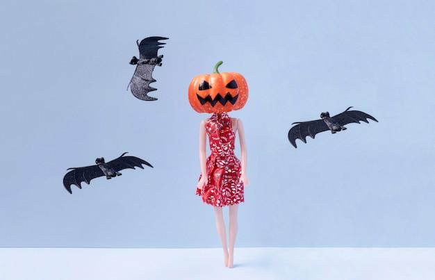 Front view creepy halloween toys