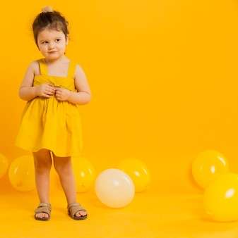 Front view of cute child posing