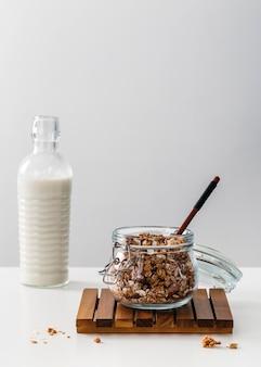 전면보기 맛있는 아침 식사 구성