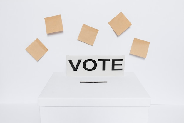 Front view of elections concept with copy space