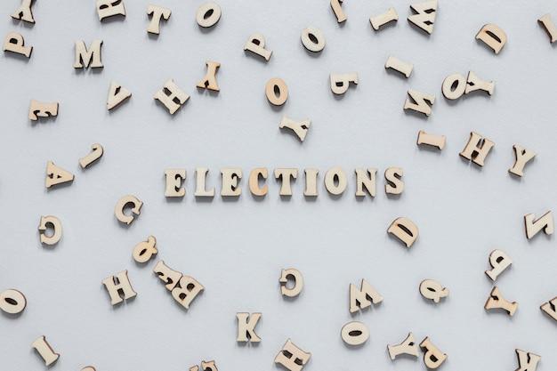 Vista frontale del concetto di elezioni