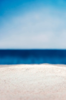 Front view of empty defocused beach